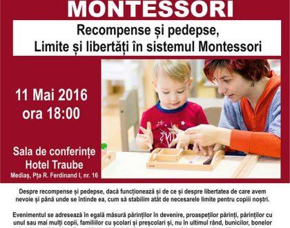 """Atelier """"Recompense și pedepse, limite și libertăți în sistemul Montessori"""""""