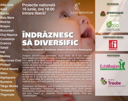 Proiecția națională a documentarului Diversificarea