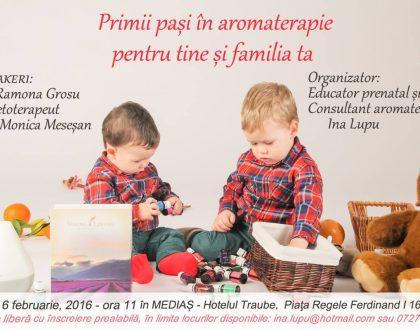 """Seminar """"Primii pași în aromaterapie pentru tine și familia ta""""."""